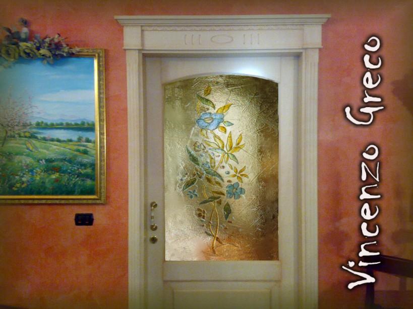 Vetrate artistiche per interni porte e finestre decorate - Porte scorrevoli con vetro decorato ...